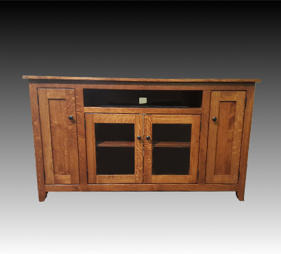 Amish Hand Made TV Stand by Ashery Oak Furniture