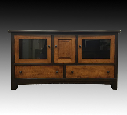 Andal Woodworking 61-inch Amish made TV Console in a two-tone finish