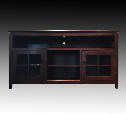 Andal Woodworking 61-inch Home Theater Stand in an Rich Cherry finish