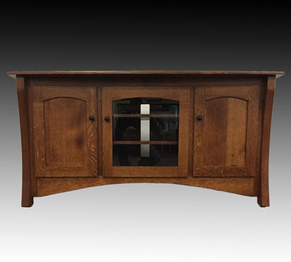 Ashery Oak 60-inch Amish TV Console