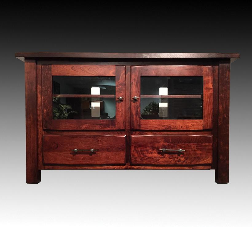 ashery oak 55inch corner cabinet