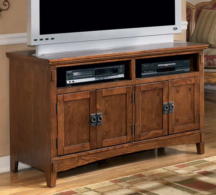 Cross Island 50 Inch Oak Tv Stand With Mission Style: Mentor TV €� Ashley Furniture W319-28 Cross Island Series