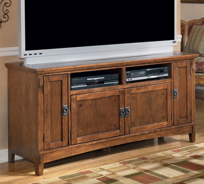 Ashley Cross Island Series 60-inch TV console