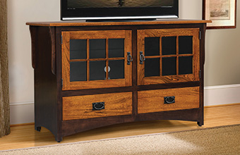 Amish furniture - including TV stands, TV consoles and home theater furniture.