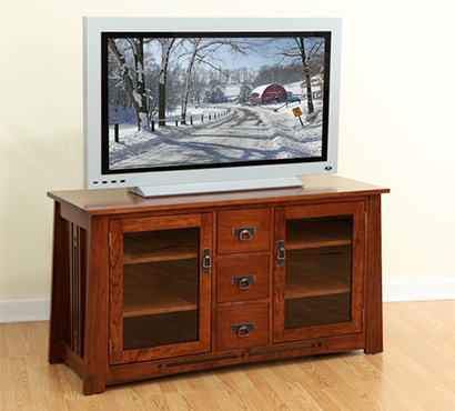 Handcrafted Amish Flat Panel TV Stand